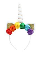 cheap -amazon hot-selling unicorn headband ins explosive fabric flower headband children headband funny creative hair accessories