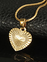 cheap -Pendant Necklace Charm Necklace Women's Geometrical Gold Plated Heart Precious Fashion Lovely Wedding Gold 51 cm Necklace Jewelry 1pc for Christmas Wedding Gift Daily Work Geometric
