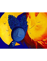 cheap -IARTS Hand Painted Sun and moon Oil Painting with Stretched Frame For Home Decoration