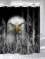 cheap -Smoky White Bird Digital Printing Shower Curtain Shower Curtains Hooks Modern Polyester New Design
