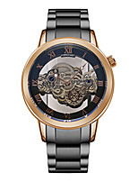 cheap -men's watch fashion hollow transparent bottom automatic quartz steel band business watch