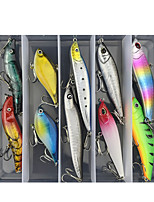 cheap -10 pcs Lure kit Fishing Lures Minnow Pencil Popper lifelike 3D Eyes Sinking Bass Trout Pike Sea Fishing Lure Fishing Freshwater and Saltwater
