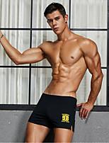 cheap -Men's 1 Piece Basic Boxers Underwear - Normal Mid Waist White Black Blue M L XL