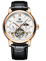 cheap -moon star mechanical watch luminous waterproof automatic men's watch belt multifunctional casual watch