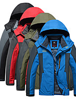 cheap -Men's Waterproof Hiking Jacket Hiking Windbreaker Autumn / Fall Spring Summer Outdoor Solid Color Thermal Warm Windproof Lightweight Breathable Jacket Hoodie Top Camping / Hiking Hunting Ski