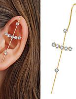 cheap -piercing earrings female integrated copper earrings ear bone clip earrings