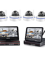 cheap -1080p wireless nvr kit 10 inch lcd monitor 2mp wifi dome camera p2p mobile phone monitor video home security system surveillance