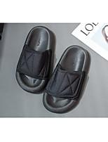 cheap -Women's Sandals Flat Heel Round Toe PU Color Block Black