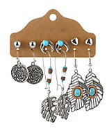 cheap -6-piece earring set bohemian retro female long earrings