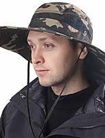cheap -Men's Sun Hat Fishing Hat Hiking Hat Outdoor UV Sun Protection Windproof UPF50+ Quick Dry Spring Summer Hunting Ski / Snowboard Fishing Black Grey Dark Gray / Breathable
