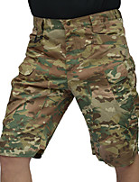 """cheap -Men's Hiking Shorts Hiking Cargo Shorts Tactical Shorts Military Camo Summer Outdoor 12"""" Ripstop Multi Pockets Breathable Sweat wicking Cotton Knee Length Bottoms CP camouflage Dark night camouflage"""