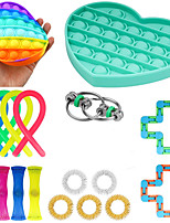 cheap -18 pcs Sensory Fidget Toys Set Pop Bubble Soybean Squeeze Stress Relief Balls with Fidget Hand Toys for Kids Adults Calming Toys for ADHD Autism Anxiety Relief