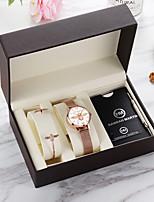 cheap -HANNA MARTIN little bee japanese movement watch gift box set ladies trend bracelet watch
