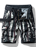 """cheap -Men's Hiking Shorts Camo Summer Outdoor 10"""" Regular Fit Quick Dry Breathable Sweat wicking Wear Resistance Spandex Cotton Shorts Black Red Army Green Blue Fishing Beach Camping / Hiking / Caving 28"""