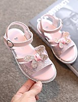 cheap -Girls' Flats Comfort Children's Day Princess Shoes PU Little Kids(4-7ys) Big Kids(7years +) Athletic Daily Walking Shoes Sequin White Pink Spring Summer