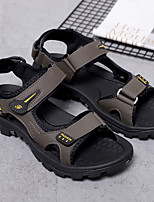 cheap -Men's Sandals Casual Beach Daily Elastic Fabric Breathable Non-slipping Wear Proof Black Gray Summer
