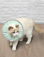 cheap -Dog Cat Pet Cone Pet Recovery Collar Elizabeth circle Adjustable Stress Relieving Safety Anti-Bite Lick Wound Healing After Surgery Protective Walking Solid Colored Nylon Small Dog Green