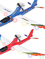 cheap -2 Pack Electric Airplane Toys Rechargeable 2 Flight Mode Throwing Plane Outside Toys Foam Education Glider Aeroplane for boys Adults Family Flying Game Toy Styrofoam Airplanes Gift for Kids Teens