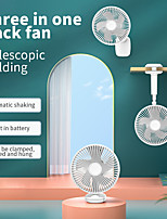 cheap -telescopic folding shaking fan 6'' clip and hang 3 speed fan For Home Office