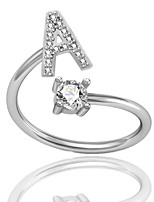 cheap -letter rings 925 sterling silver initial alphabet a-z 26 letters adjustable rings for women girls teen girls and kids open rings