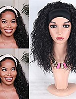 cheap -daysskk headband wig for black women headbands wig synthetic for women like natural headband wig deep wave brazilian black curly wigs non lace front for women 16 inch