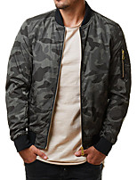cheap -Men's Hiking Jacket Hiking Windbreaker Autumn / Fall Spring Outdoor Camo / Camouflage Quick Dry Lightweight Breathable Sweat wicking Jacket Top Hunting Fishing Climbing Green camouflage Grey