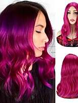 cheap -Purple Body Wave Wigs Syntheitc Hair Wigs Party Cosplay Wigs Natural Wavy Wigs For Women