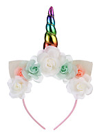 cheap -ins explosive unicorn headband halloween party headdress rabbit ears hair accessories children's headband birthday gift