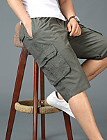 "cheap -Men's Hiking Shorts Hiking Cargo Shorts Summer Outdoor 12"" Ripstop Quick Dry Multi Pockets Breathable Cotton Knee Length Bottoms Yellow Black Dark Gray Light Grey Work Hunting Fishing XL XXL XXXL 4XL"