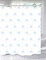 cheap -Blue Umbrella Digital Printing Shower Curtain Shower Curtains  Hooks Modern Polyester New Design