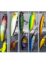 cheap -10 pcs Lure kit Fishing Lures Minnow Crank Pencil Popper lifelike 3D Eyes Floating Sinking Bass Trout Pike Sea Fishing Lure Fishing Freshwater and Saltwater