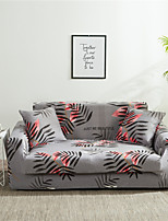 cheap -Grey Forest Leaves Print Dustproof All-powerful Slipcovers Stretch Sofa Cover Super Soft Fabric Couch Cover With One Free Boster Case(Chair/Love Seat/3 Seats/4 Seats)