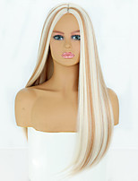 cheap -Synthetic Wig Natural Straight Middle Part Wig Medium Length A1 Synthetic Hair Women's Cosplay Party Fashion Blonde Brown