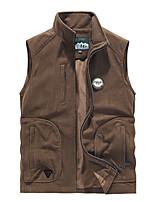 cheap -Men's Hiking Fleece Jacket Fishing Vest Work Vest Outdoor Casual Lightweight with Multi Pockets Fall Winter Travel Cargo Safari Photo Wear Resistance Breathable Waistcoat Jacket Coat Top