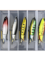 cheap -5 pcs Lure kit Fishing Lures Whopper Plopper lifelike 3D Eyes Rotating Tail Bass Trout Pike Lure Fishing Freshwater and Saltwater