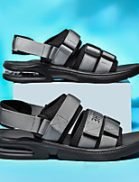 cheap -Men's Sandals Casual Beach Daily Walking Shoes Elastic Fabric Breathable Non-slipping Wear Proof White Black Gray Summer