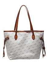 cheap -Women's Bags PU Leather Tote Top Handle Bag Date Office & Career 2021 Handbags Brown Gray