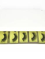 cheap -Eyelashes 3D Synthetic Lashes With Custom Box Natural Mink Eyelashes Fluffy False Eyelashes Makeup False Lashes Bulk