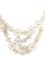 cheap -Collar Necklace Women's Trendy Gold 45 cm Necklace Jewelry for Street Gift Daily Work Club Oval