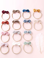 cheap -1pcs Toddler / Infant Girls' Active / Sweet Vacation White / Blue / Red Solid Colored Bow Nylon Hair Accessories White / Blue / Blushing Pink One-Size