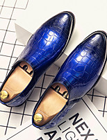 cheap -Men's Loafers & Slip-Ons Snakeskin Shoes Classic Daily Prom Party & Evening Shoes Nappa Leather Cowhide Breathable Non-slipping Height-increasing Booties / Ankle Boots Red Blue