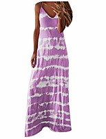 cheap -shakumy women dresses tie dye printed long maxi dress spaghetti strap summer casual sundress beach party cami tunic dress