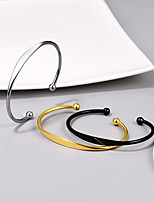 cheap -Bracelet Bangles Cuff Bracelet Bracelet Single Strand Houses Fashion Personalized Stylish Simple Titanium Steel Bracelet Jewelry Black / Gold / Silver For Gift Date Birthday Festival
