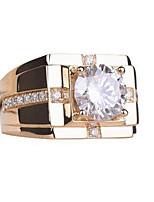 cheap -classic high carbon diamond high simulation men's diamond ring imitation moissanite gold plated wedding ring