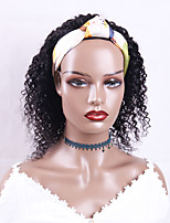 cheap -Headband Wig  Kinky Curly Human Hair Wig For Black Women Head Band Wig Curly Human Hair Wig Curly Hair Wig 150% Density Headband Wigs For Black Women human hair 12-30 inch