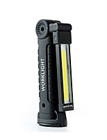cheap -LED Flashlights / Torch LED Light Handheld Flashlights / Torch 600 lm LED LED Emitters with USB Cable Portable Foldable Professional Camping / Hiking / Caving Everyday Use Hunting Black