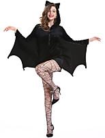 cheap -Bat Cosplay Costume Adults' Women's Halloween Halloween Halloween Festival / Holiday Terylene Black Women's Easy Carnival Costumes Solid Color / Leotard / Onesie