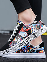 cheap -Unisex Sneakers Skate Shoes Sporty Casual Daily Outdoor Walking Shoes PU Breathable Non-slipping Wear Proof Black / Red Black / Blue Spring Summer