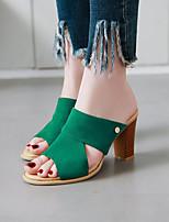 cheap -Women's Sandals Pumps Peep Toe PU Synthetics Black Yellow Blue