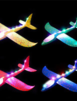 cheap -4 Pack Flashing Glider Plane Illuminated Colored led Lights Play at Night Foam Airplane with 2 Flight Mode  Airplane Toys Gift